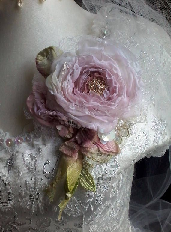 Silk rose brooch hair accessory mother of the bride shabby chic silk rose brooch hair accessory mother of the bride shabby chic brooch romantic flower pin floral corsage wedding jewelry silk rose mightylinksfo