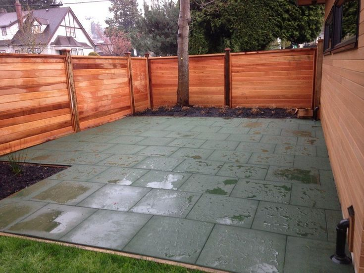 Outdoor Rubber Tiles Backyard