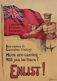 Enlist! New Names in Canadian History - recruitment campaign poster
