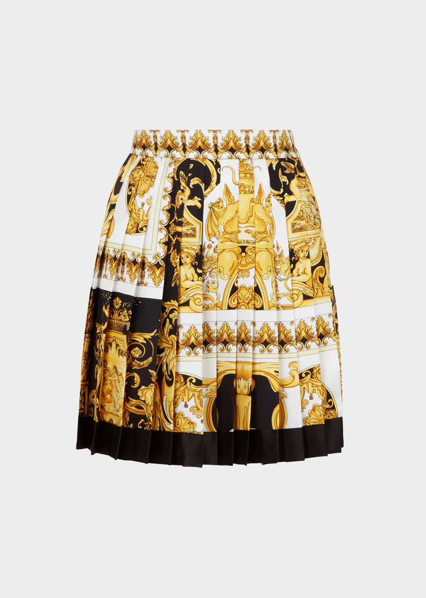 cc6da5065c Pleated Barocco SS'92 print Skirt for Women | US Online Store in ...