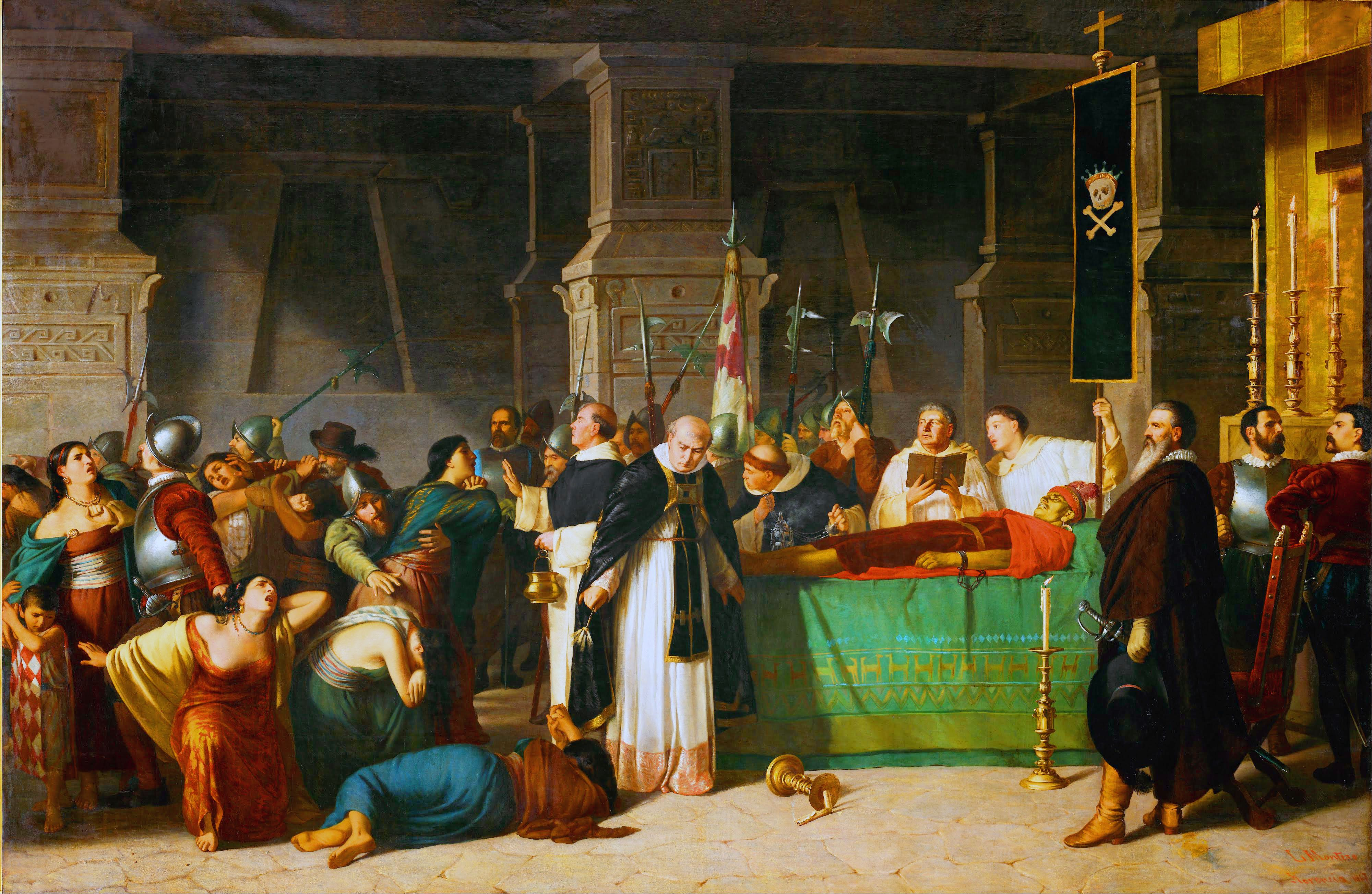 The Funeral Of Emperor Atahualpa Of The Incas By Luis