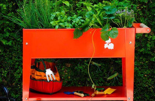 Herstera Urban Gardening Pflanztrolley Hochbeet Gardening Draussen