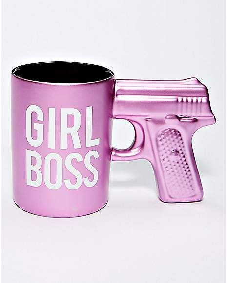 Gun Girl Boss Coffee Mug - 20 oz. - Spencer's #bosscoffee Gun Girl Boss Coffee Mug - 20 oz. - Spencer's #bosscoffee