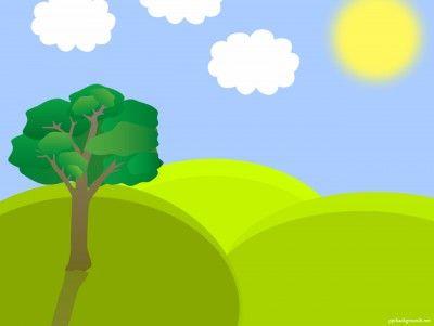 Spring Landscape Vector Free Template Presentation Background