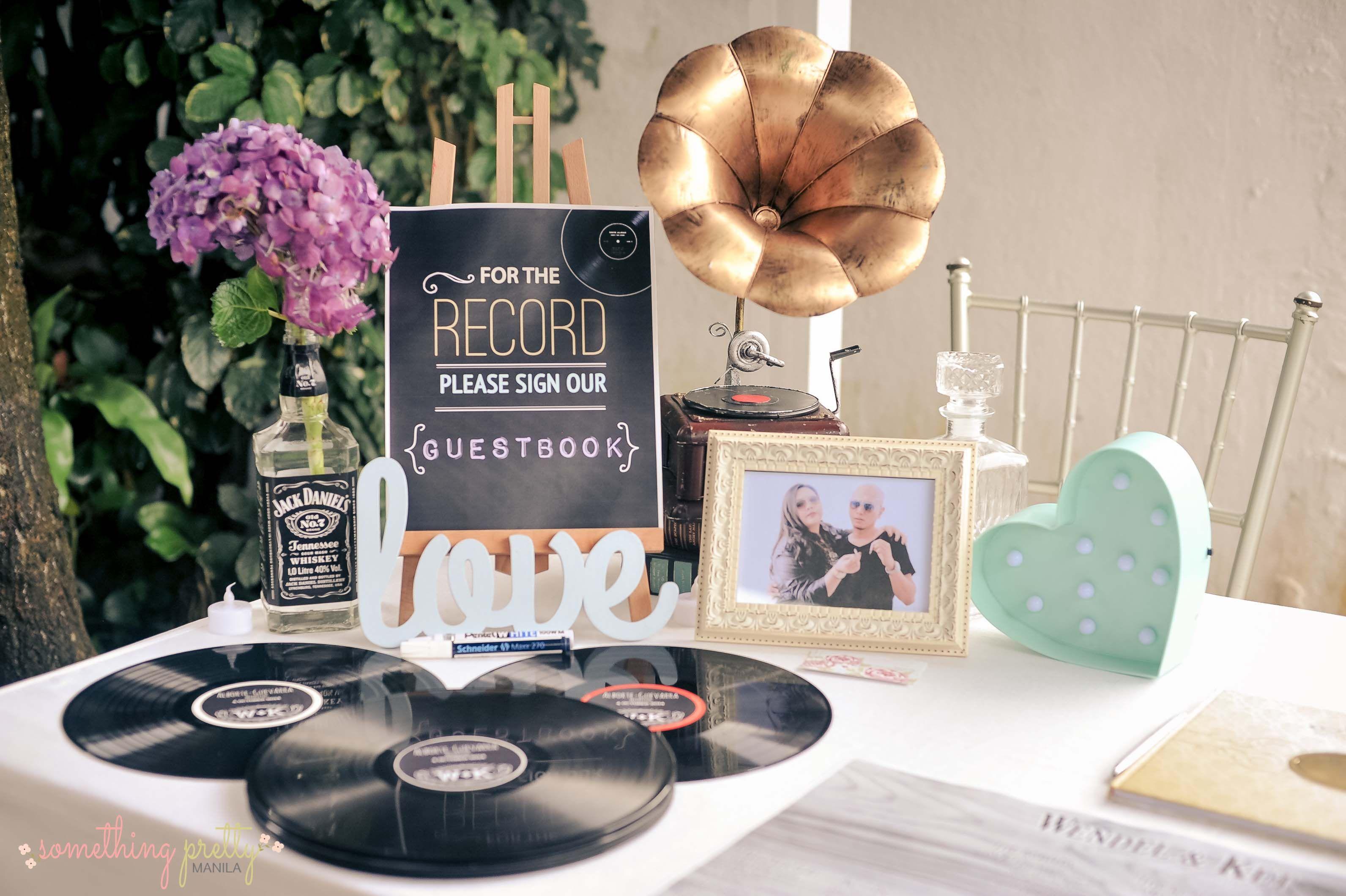Guestbook Corner Diy Vinyl Records Wendel And Ket S