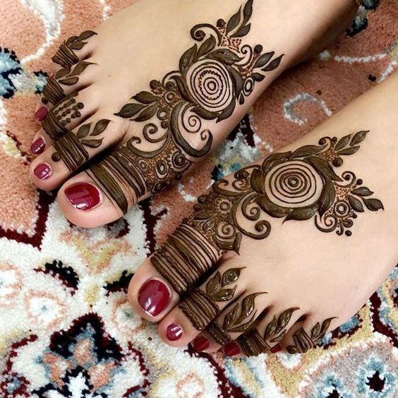 Beautiful Henna Designs For Feet Mehndi Design Pinterest