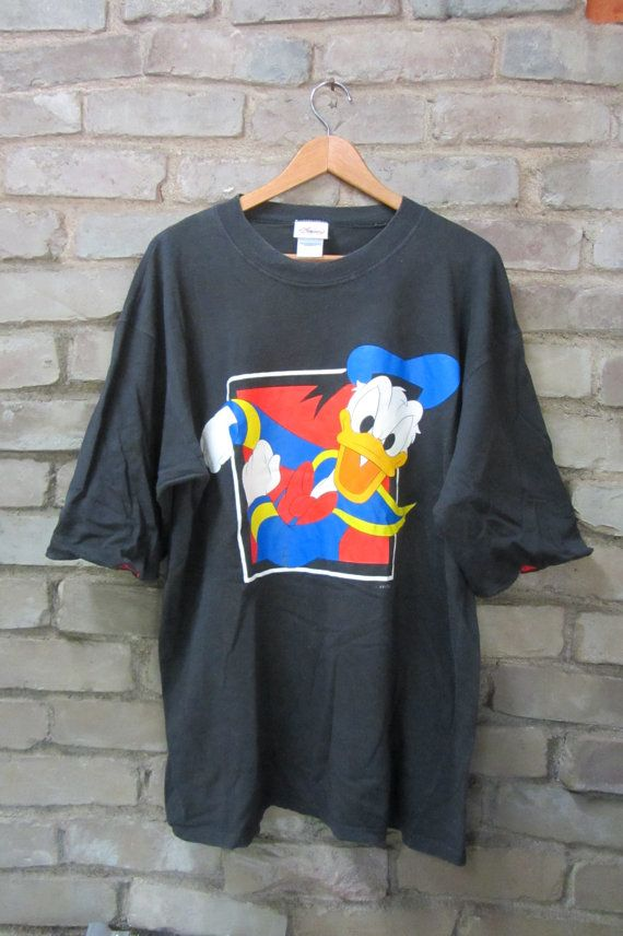 Vintage Donald Duck Disney T Shirt Hipster Walt Disney Duck Shirts Disney Tshirts Favorite Shirts