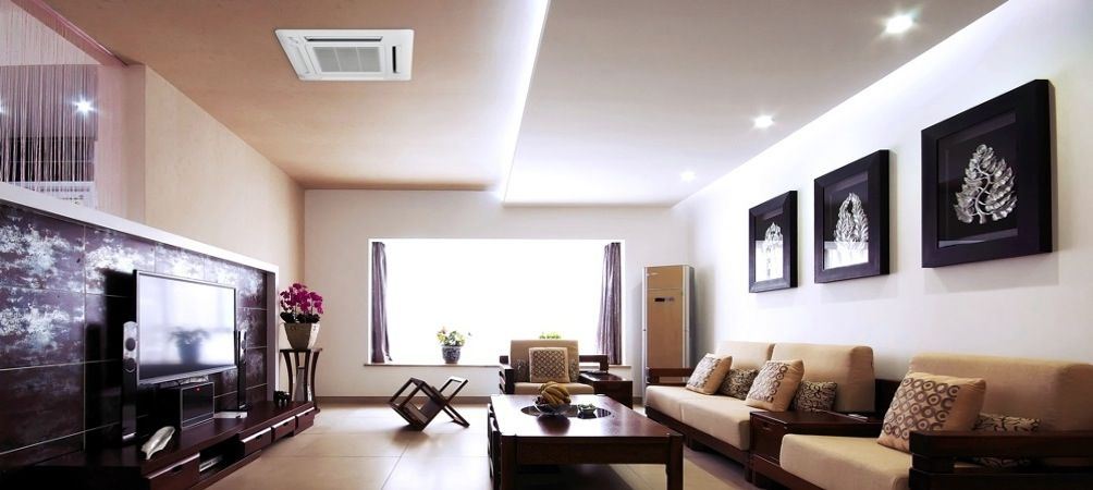 Ductless Mini Split Ceiling Cassette Systems Ceiling Design Living Room Luxury Master Bedroom Design Ceiling Design