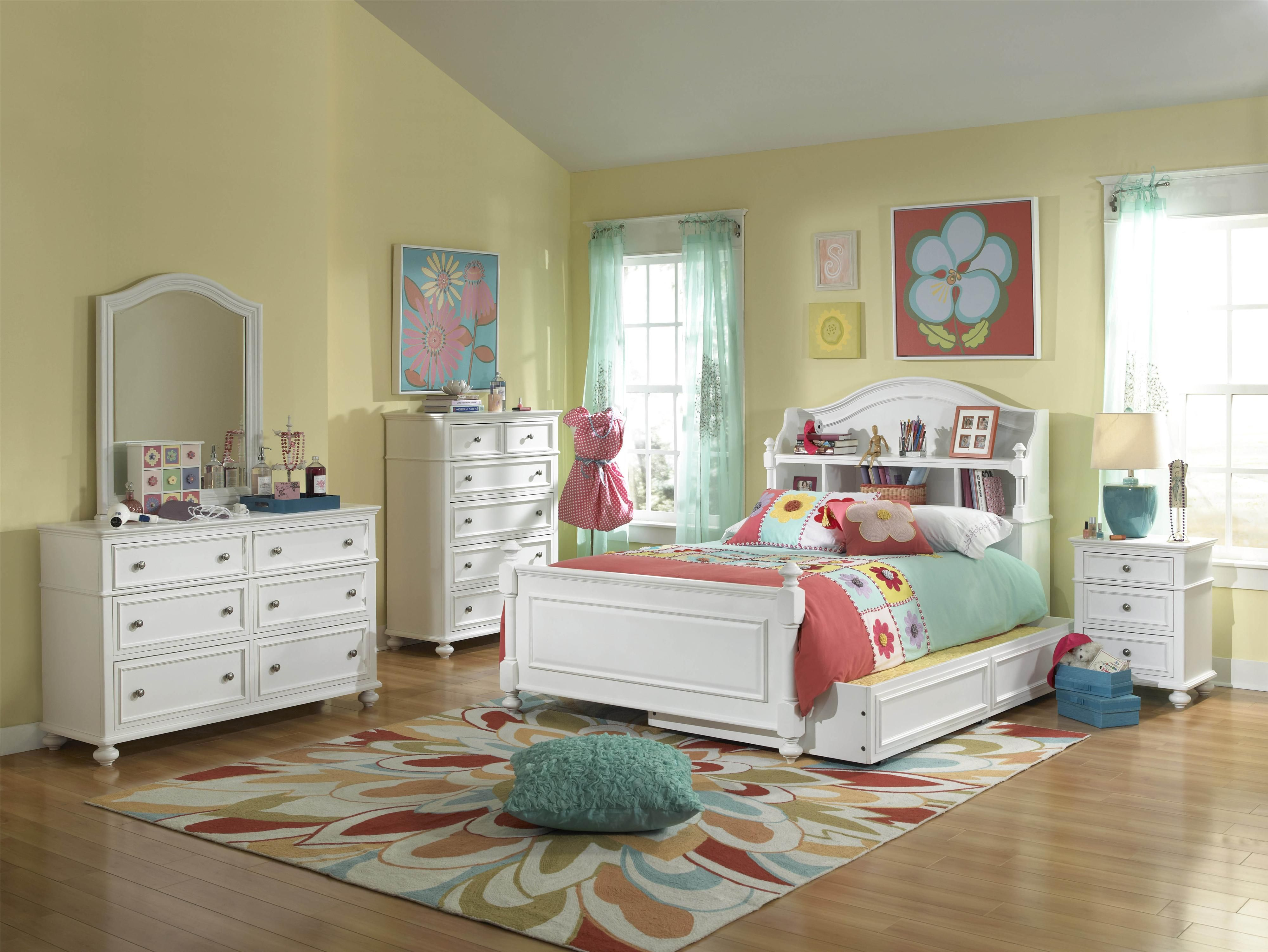 Madison Full Bedroom Group Bookcase Bed Bookshelf Headboard Storage Kid Beds