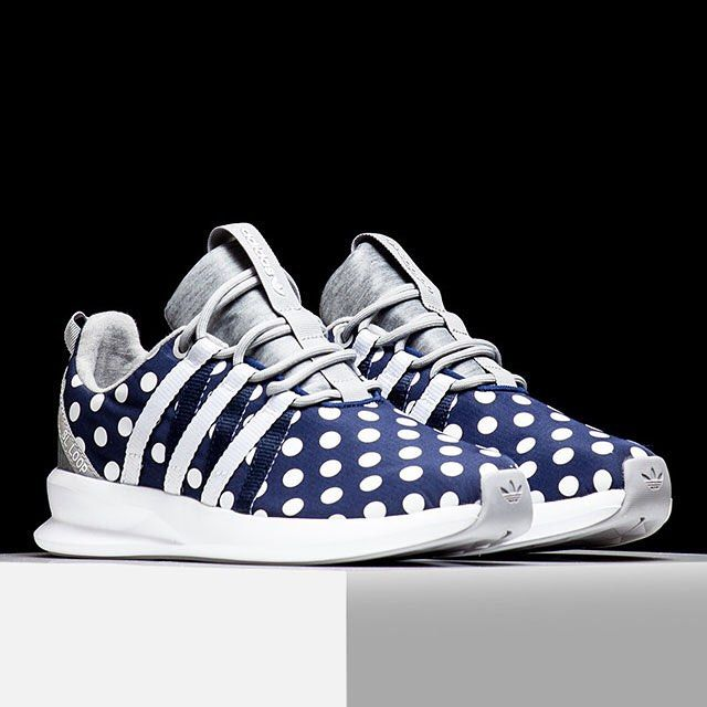Sneaker News On Instagram Smooth Polka Dot Uppers On The Adidas Sl Loop Racer Check These Out In The Adidas Category On Polka Dot Shoes Adidas Cute Shoes