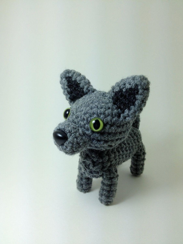 Sale Crochet Cat Amigurumi Cat Doll Stuffed Animal Shorthair Gray