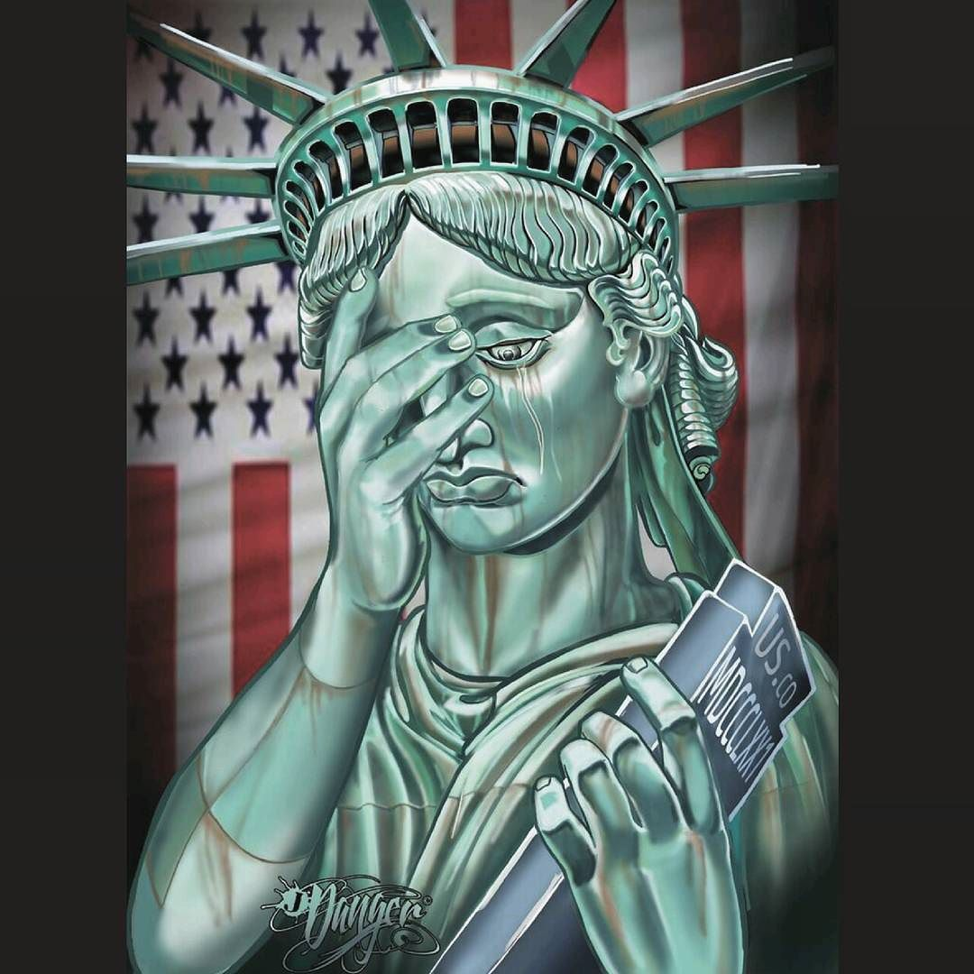 Liberty Crying. 24x36