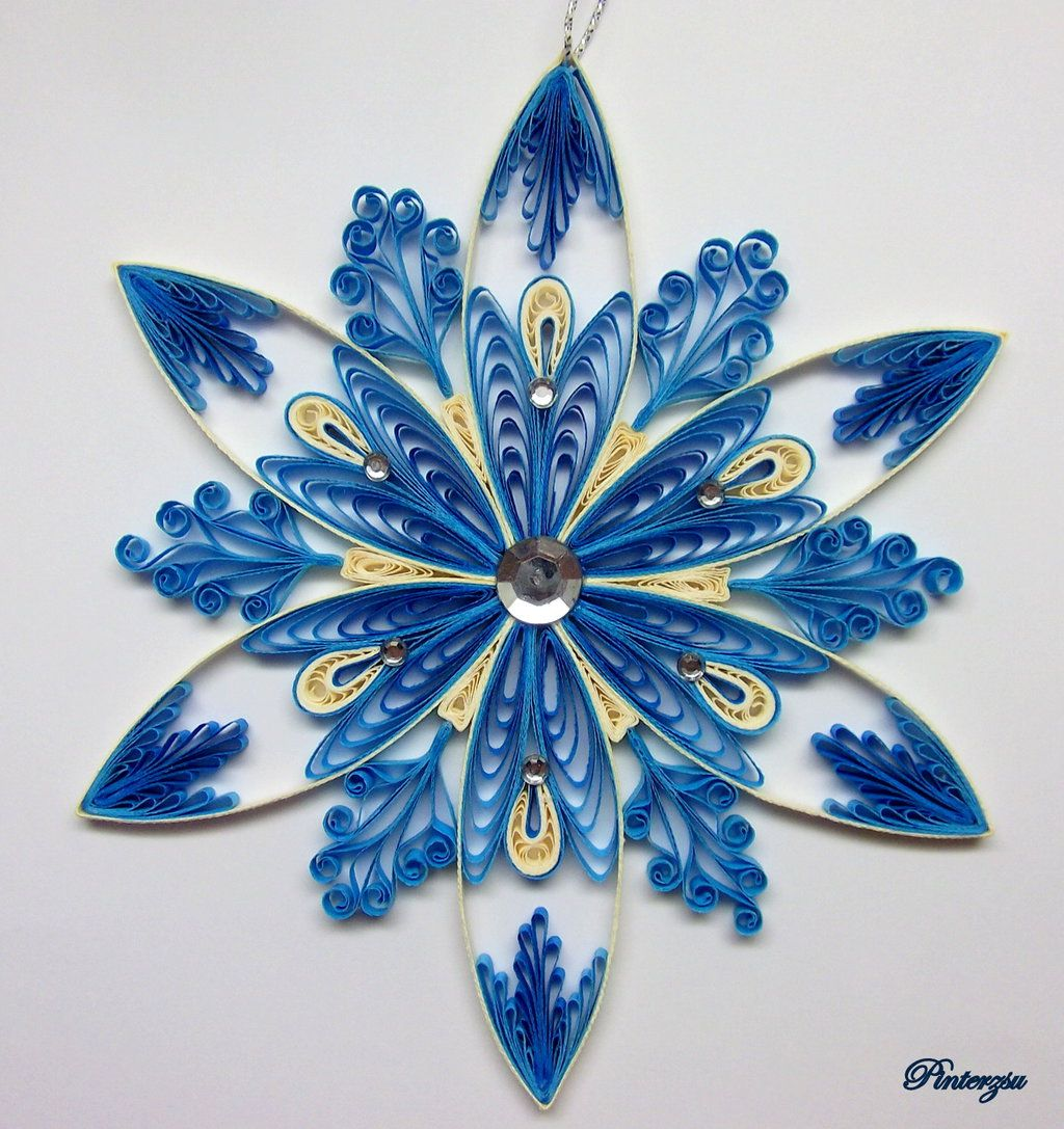 Quilled snowflake by on for Quilling patterns for beginners