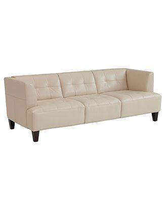 999 Through 6 1 Alessia Leather Sofa 83 W X 37
