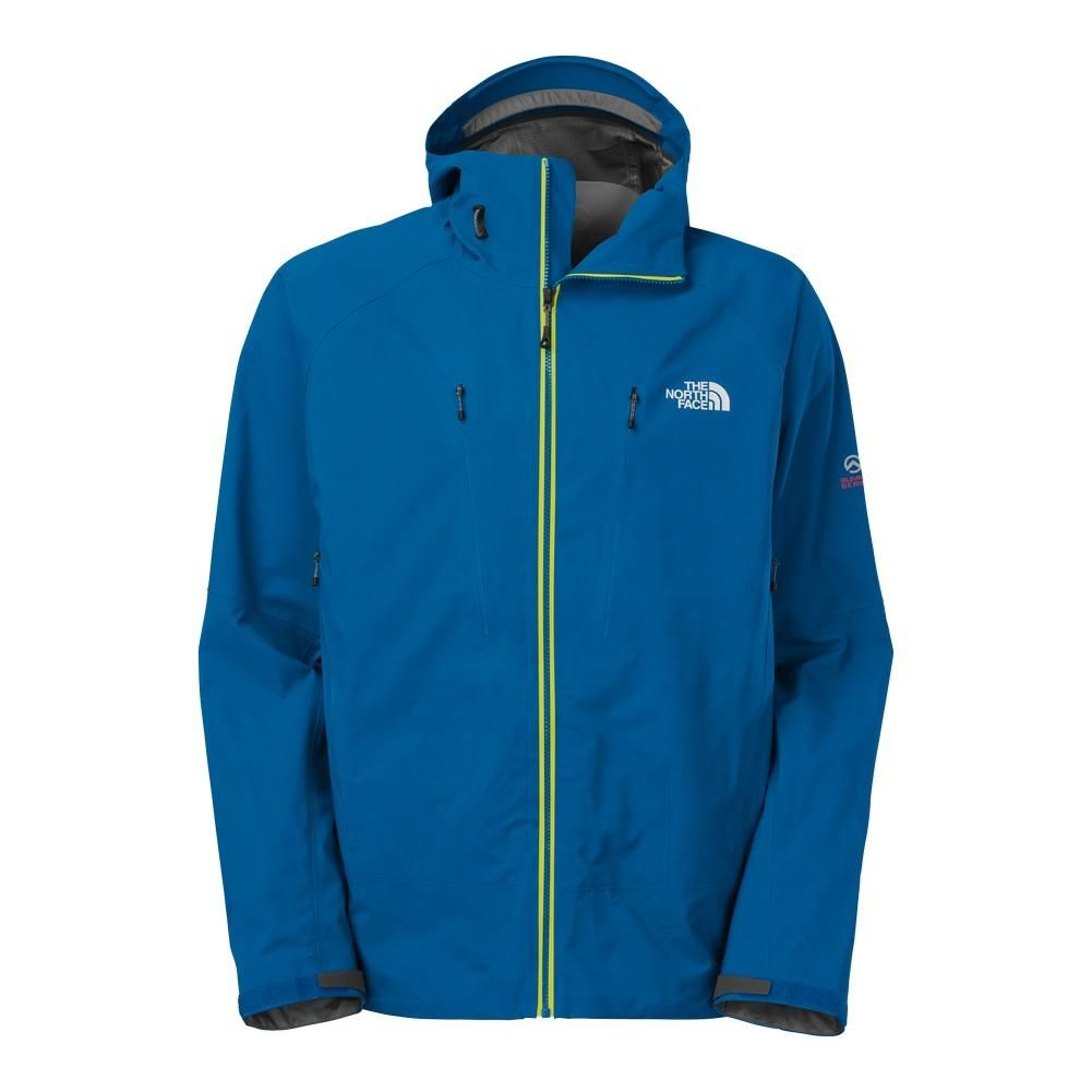 2749e0d27d59 New The North Face Men s Apex Bionic Jacket High Rise Grey Htr Dish Blue  Large Review