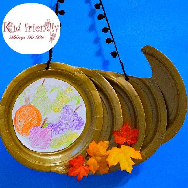 Paper Plate Cornucopia Craft for a Kidu0027s Thanksgiving Craft - great for preschool elementary school & Paper Plate Cornucopia Craft for a Kidu0027s Thanksgiving Craft ...