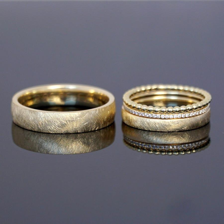 Eheringe FROZEN GOLD Kombination