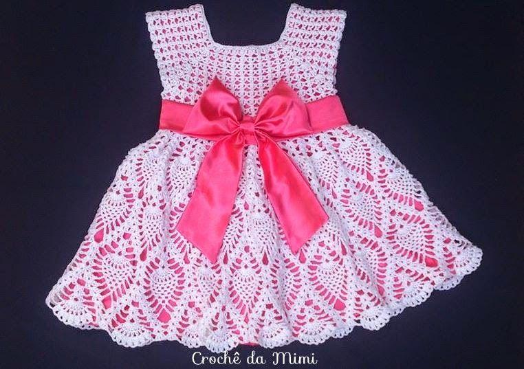 Crochê Da Mimi Vestido Crochê Para Menina 2 Anos Com