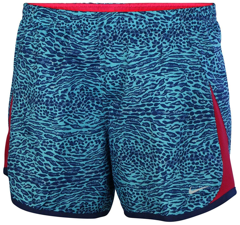 0f7ac8c3a0d5a Nike Big Girls' (7-16) Dri-Fit 5K Printed Running Shorts-Light Blue ...