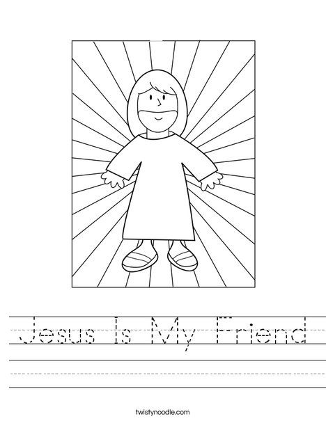 Jesus With Light Worksheet Jesus Coloring Pages Jesus Is My