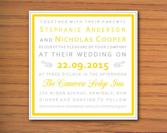 DIY Printable MS Typography Poster Word Wedding Invitation - poster word template