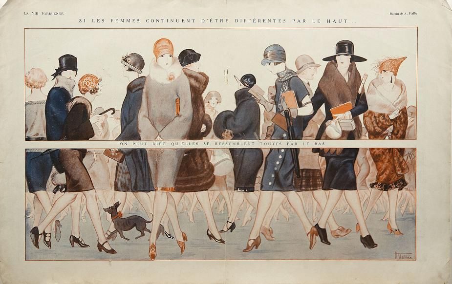 "Art Deco Fashion Design – ""La Vie Parisienne"""
