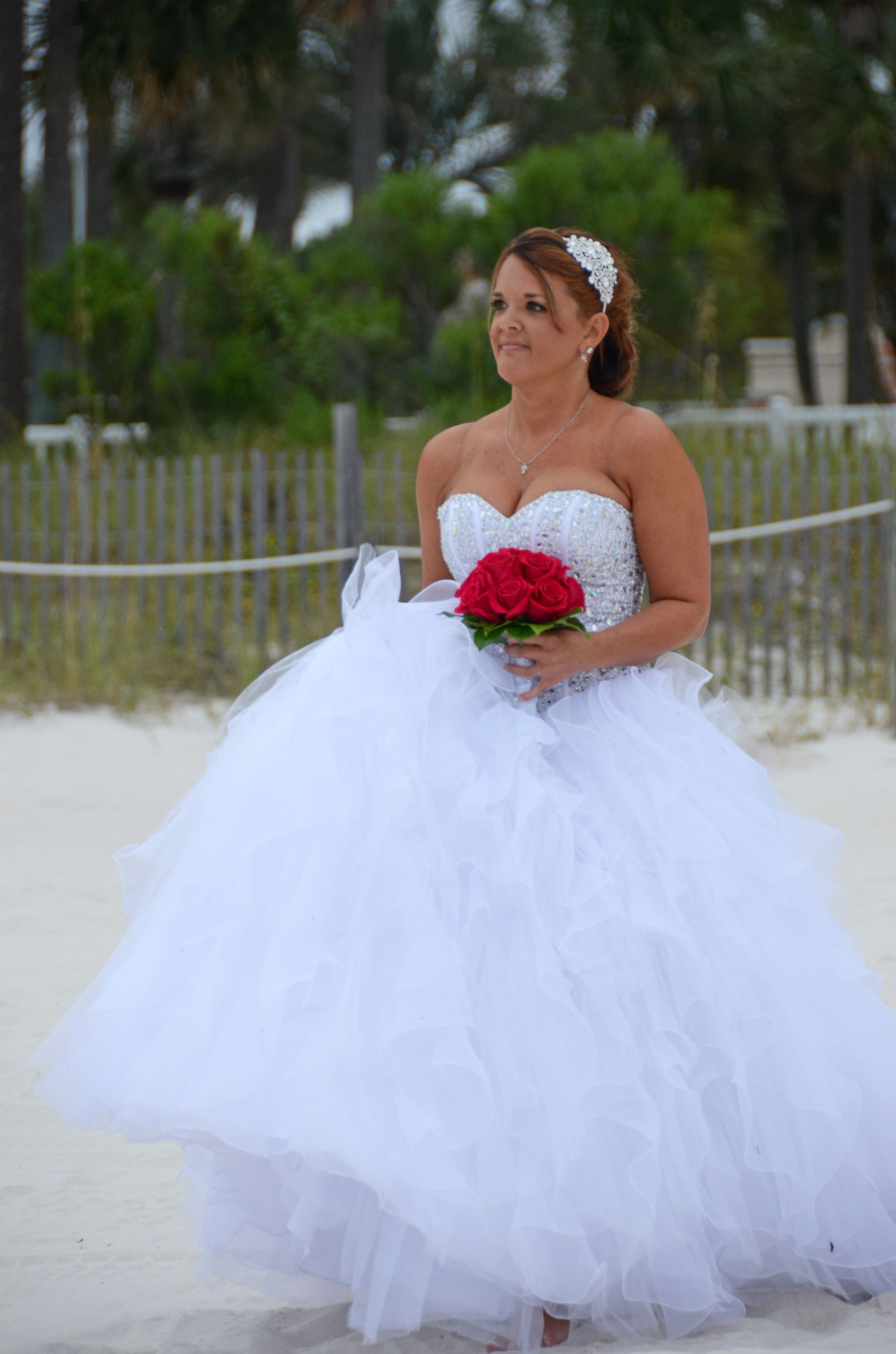 Panama City Beach, Florida beach wedding bride's entrance