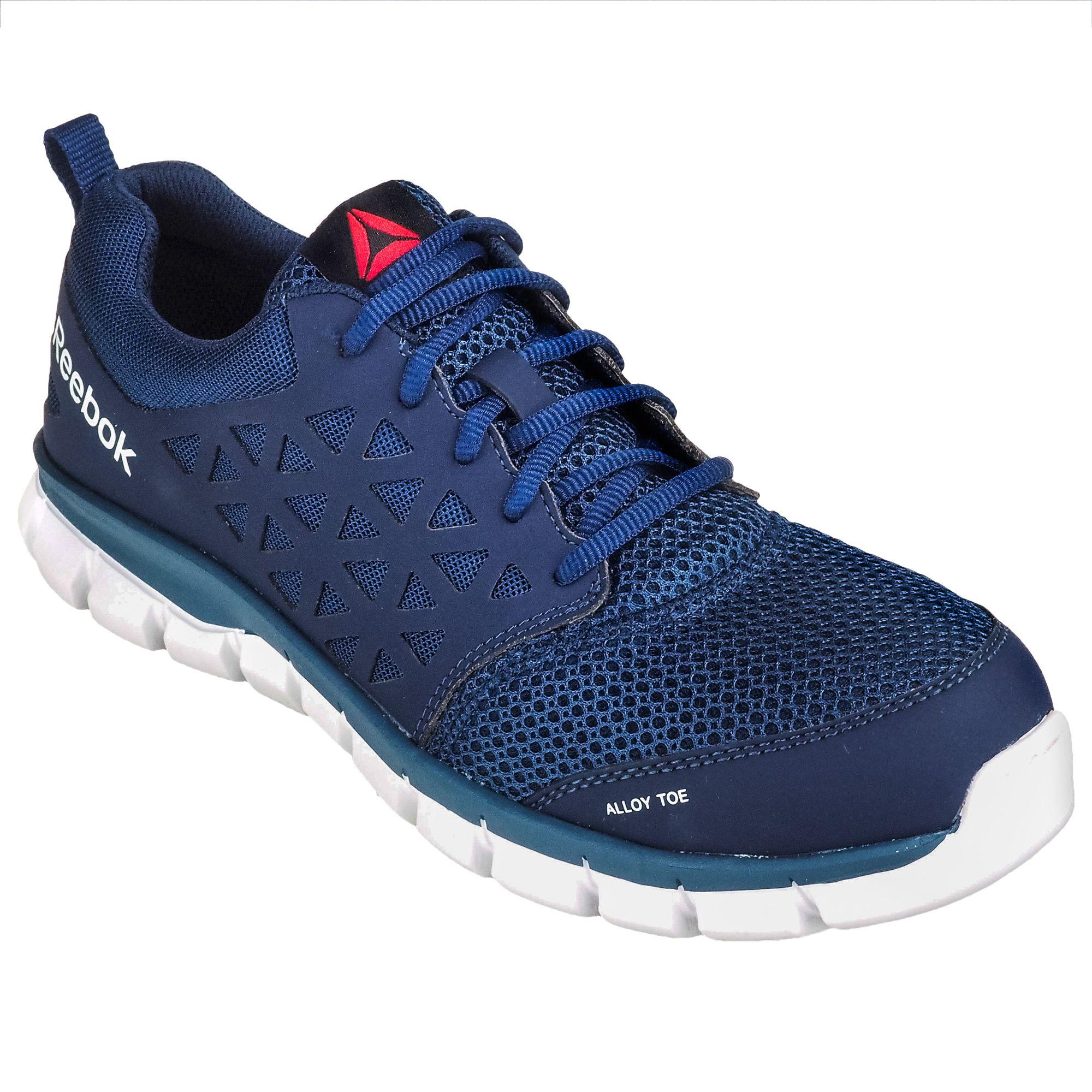 Reebok Men s Alloy Toe ESD RB4043 Sublite Cushion Blue Athletic Shoes d8f6aec65