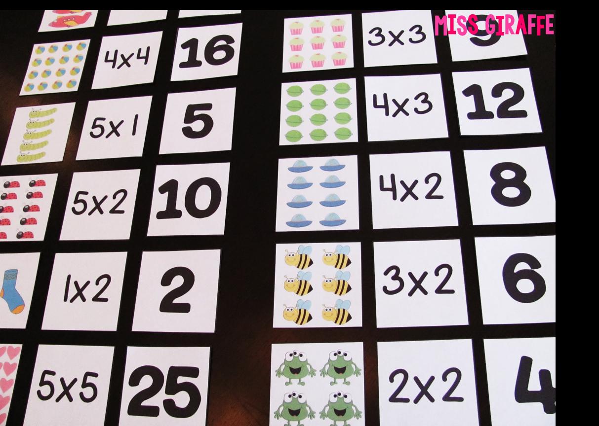 Arrays Matching Cards H 864