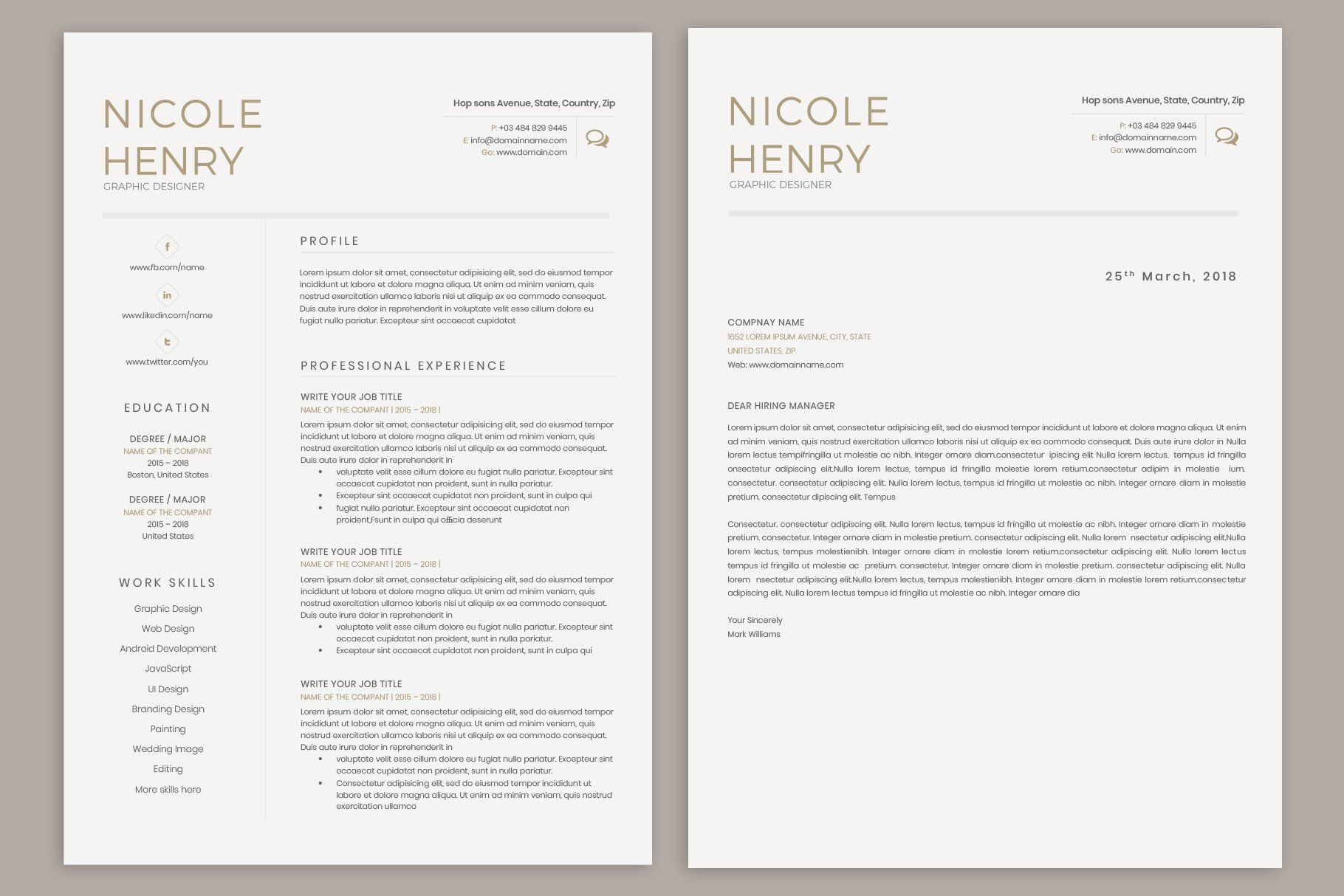 Resume clean resume template unique resume template resume