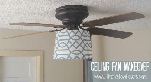 8 Cool Diy Ceiling Fan Makeovers Shelterness Ceiling Fan Makeover Diy Ceiling Ceiling Fan