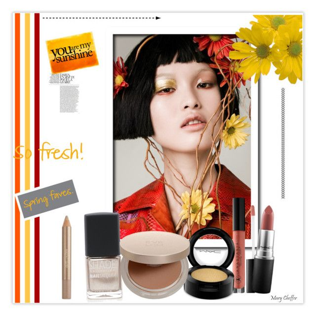 """You are my sunshine"" by mcheffer ❤ liked on Polyvore featuring beauty, Xin, Estée Lauder, Anastasia Beverly Hills, MAC Cosmetics, Eve Lom, Spring, Beauty and makeup"
