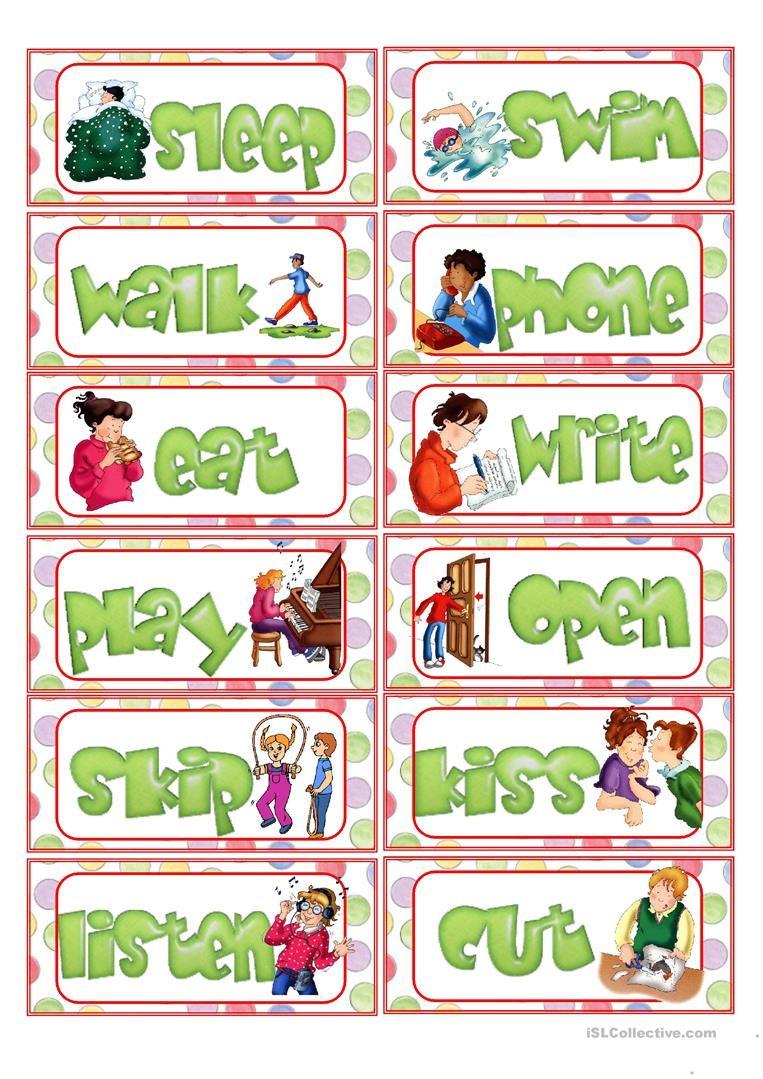 Action Verb Flashcards Worksheet Free Esl Printable Worksheets Made By Teachers Action Verbs Action Verbs Worksheet Flashcards