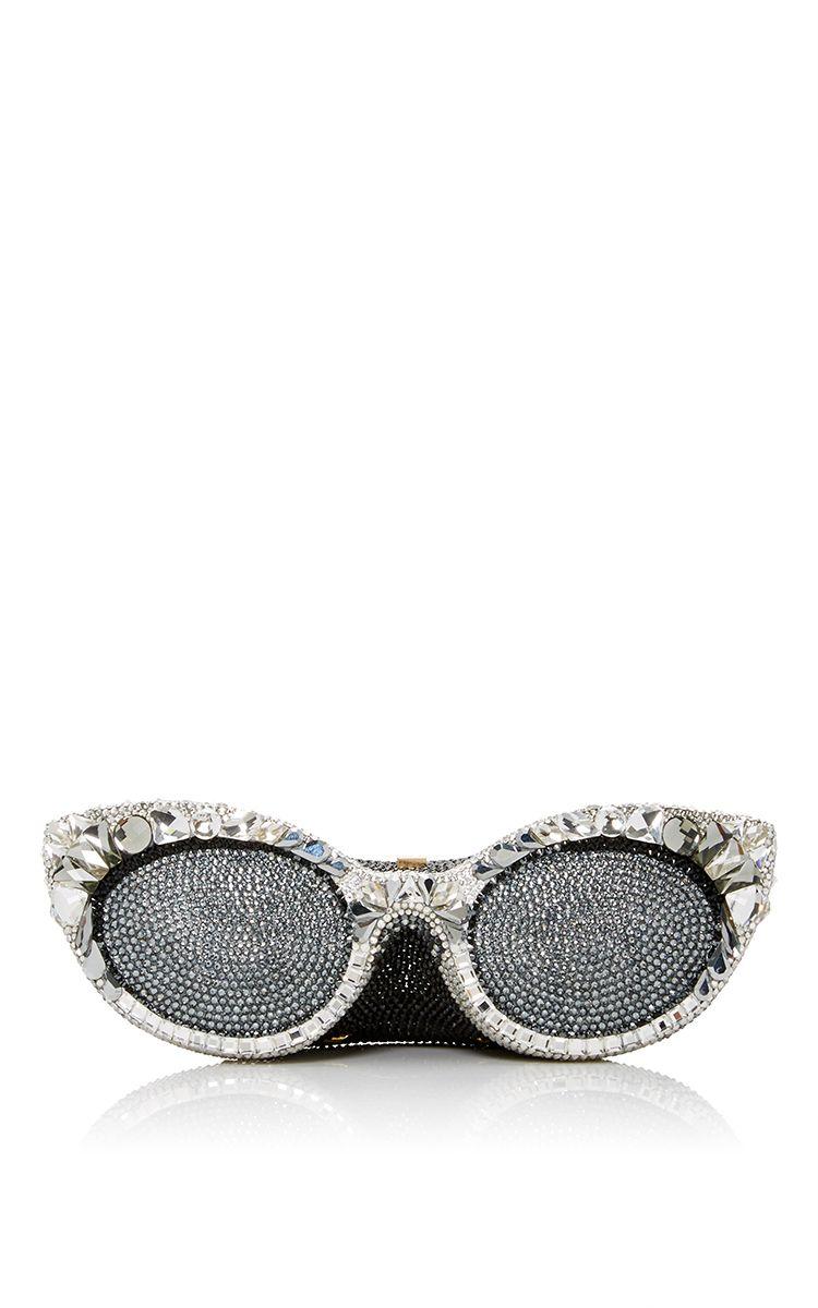 69e41de0575 Silver Sugar Eyeglasses Clutch by JUDITH LEIBER COUTURE for Preorder on  Moda…
