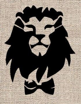 Lion With Bowtie Stencil Life Pinterest Stenciling Lions And Silhouettes