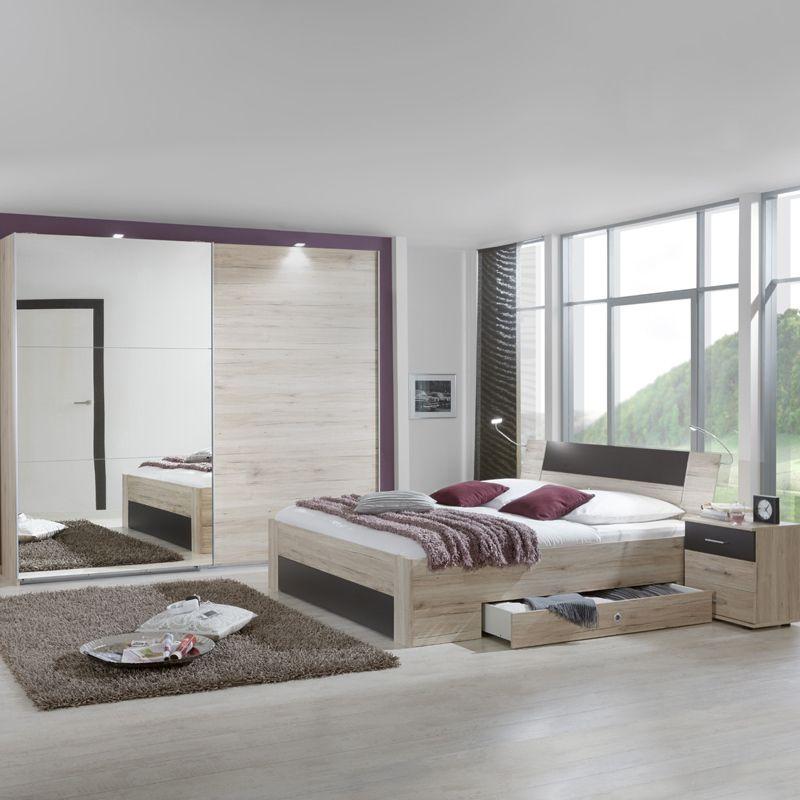 Schlafzimmer Set »YONIE166« San Remo-Eiche, lava Jetzt bestellen - schlafzimmer komplett