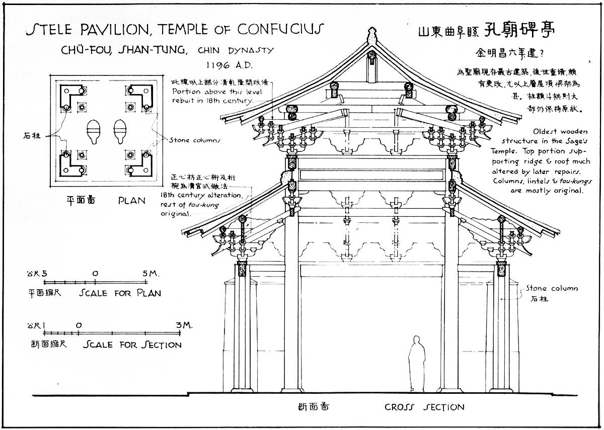 Chinese Architecture Drawing Notes To Style