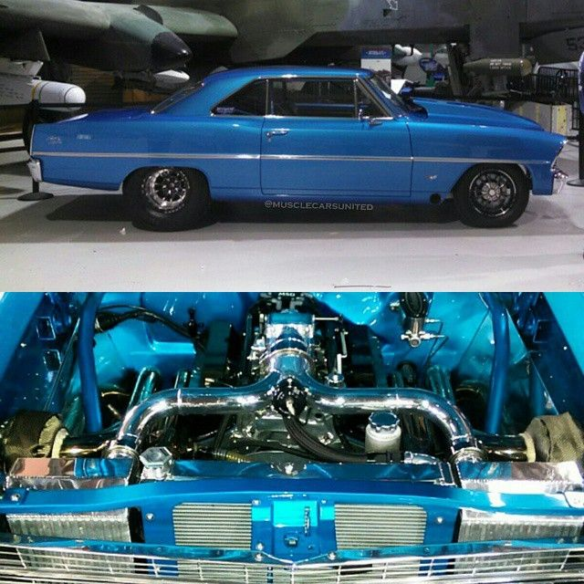 Turbo Harley Drag Race: 1967 Chevy Nova LS 427 Twin Turbo