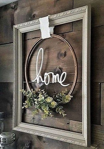 Photo of Recreate this Look: Modern Farmhouse Framed Embroidery Hoop – thetarnishedjewelb…