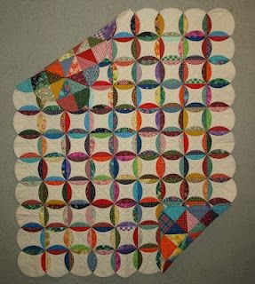 It looks to JustAbitcrazy like it's mock cathedral window, made by ... : pattern for cathedral window quilt - Adamdwight.com