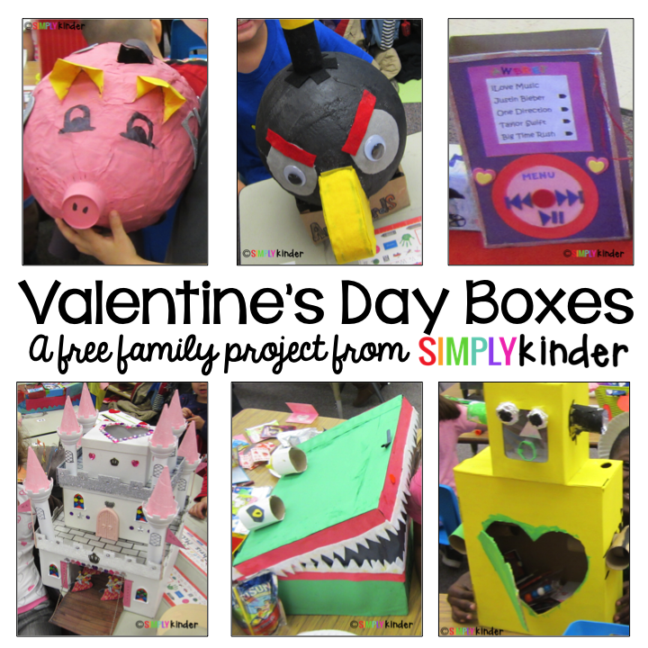 Valentines Box Family Project  Project free Box and Blog