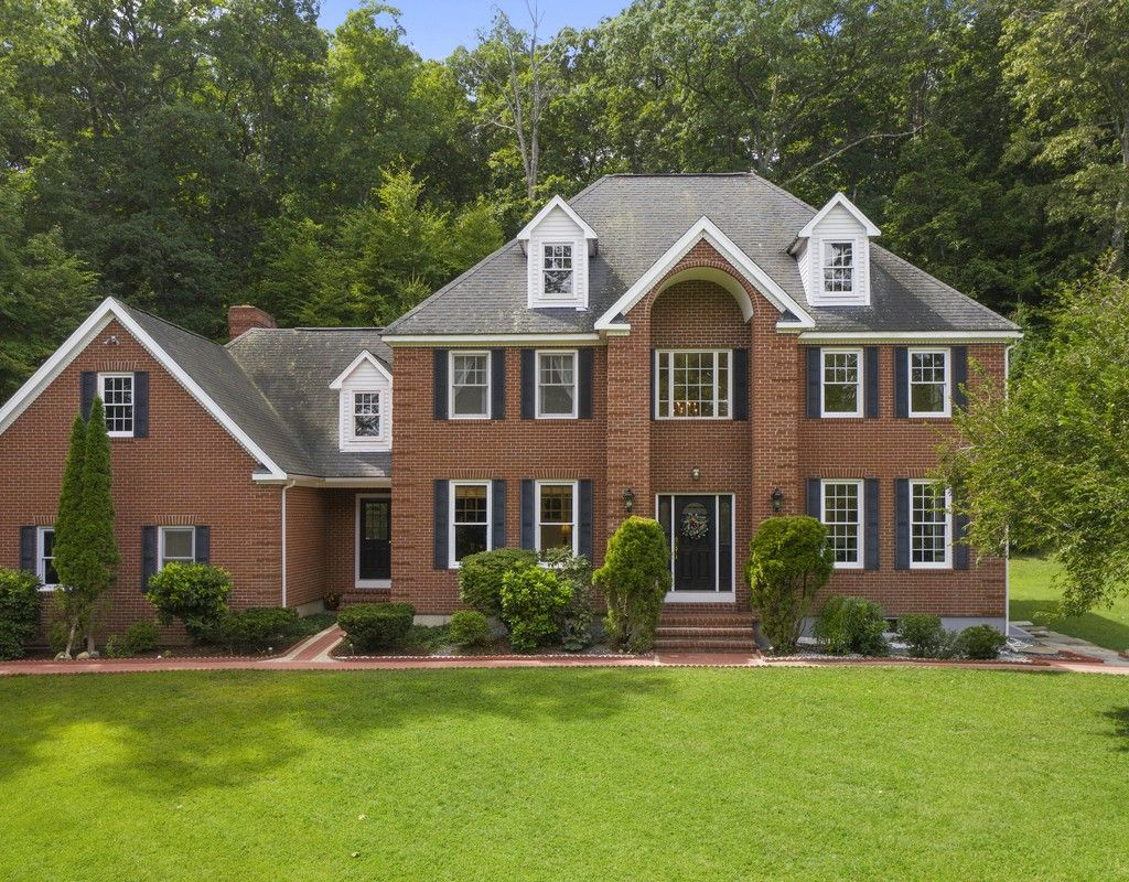 Brick Front Tower Colonial in Southborough, MA is