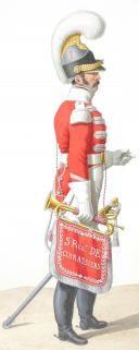 1816. Cuirassiers. Trumpet. Captain Second (5th Regiment -d'Orléans).