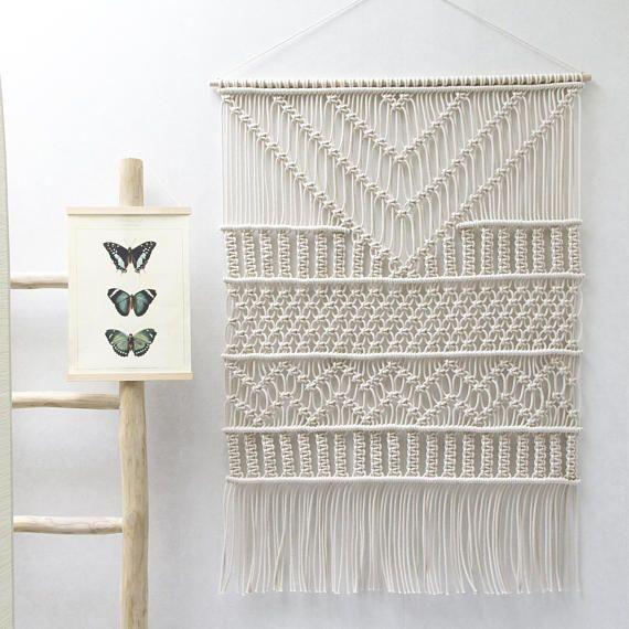 ○ D E S C R I P T I O N Los tapices de macrame grande TAYA cuenta - tapices modernos
