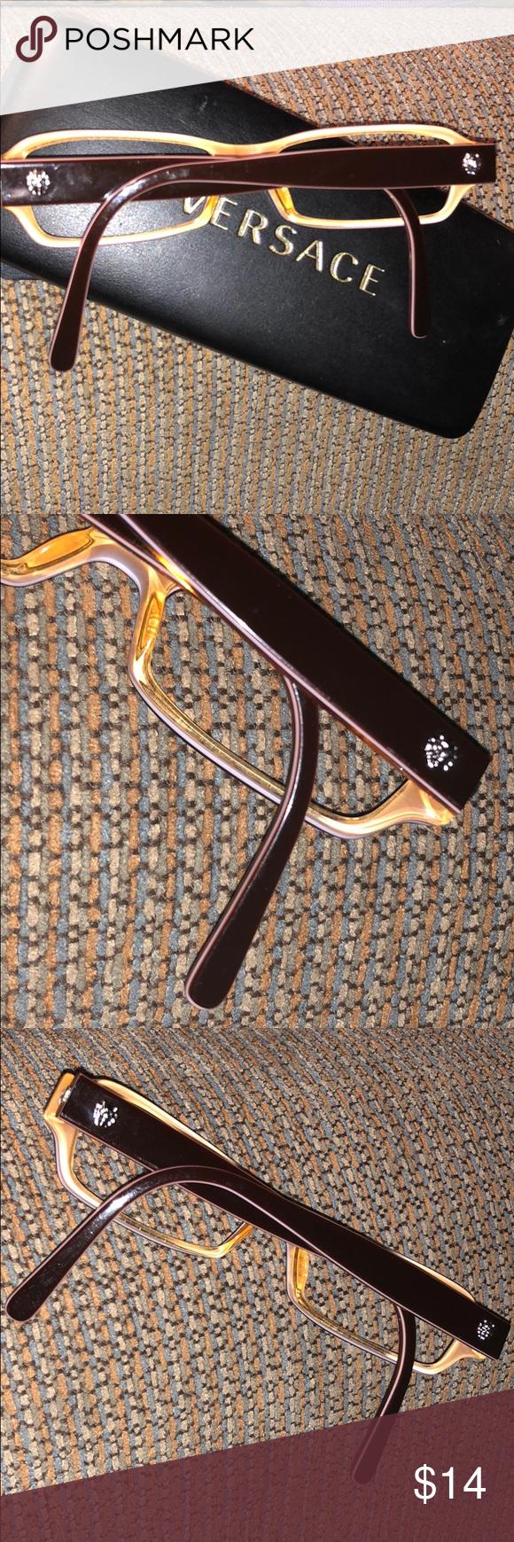b2abe8e2b716 Versace Versus brown orange frame mod8038 Great condition plastic frames no  lenses. Mod8038 Versace brown with burnt orange. Versus Versace Accessories  ...