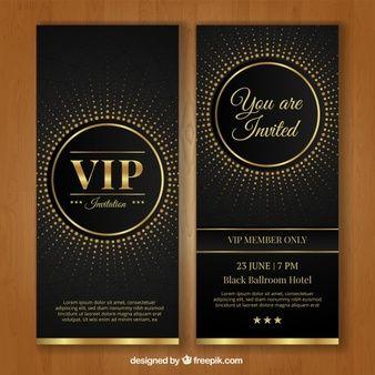 Plantilla De Invitación Vip Invitaciones De Cumpleaños