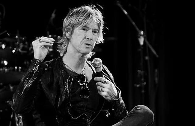 """GN'R Black N' White (@gnrblackandwhite) posted on Instagram: """"@officialduffmckagan speaks at the musicians institute concert hall on may 24, 2012 in Los Angeles, California. . . . #duffmckagan #duff…"""" • Sep 16, 2020 at 11:29pm UTC"""