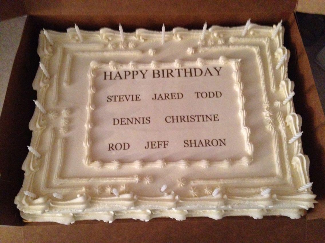 Happy Birthday sheet cake | Cakes I\'ve Done | Pinterest | Cake