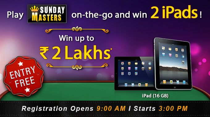 Join Sunday Masters Tournament at RummyCircle and win Rs
