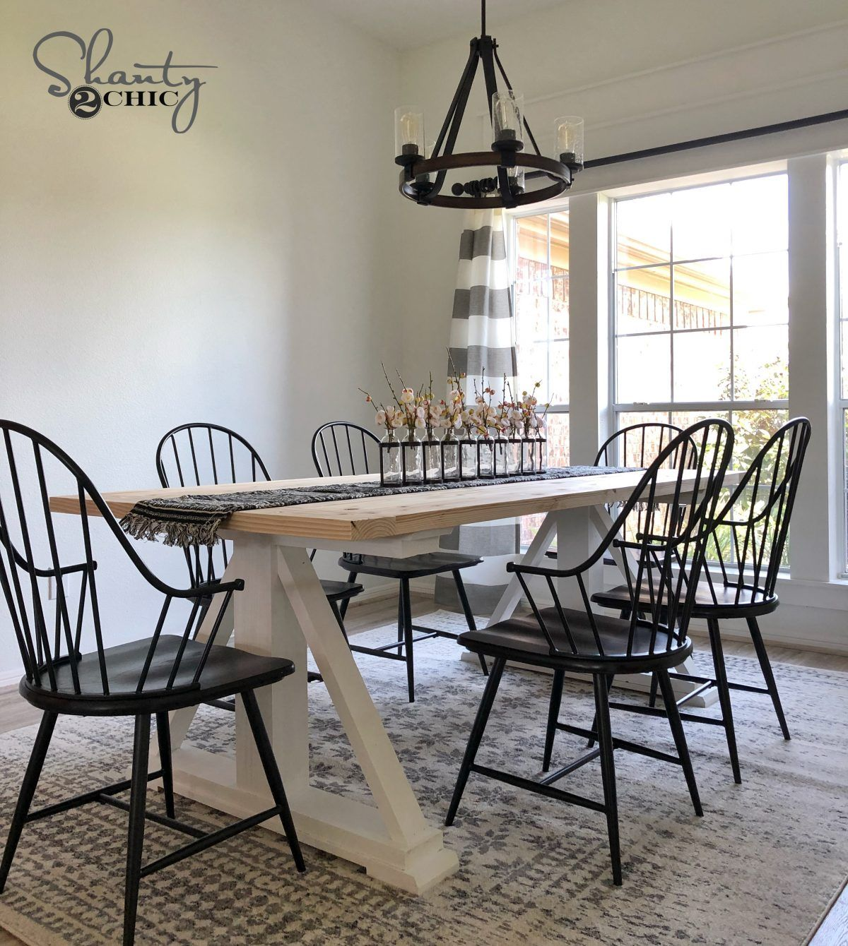Diy Modern Farmhouse Dining Table Free Plans And Video With
